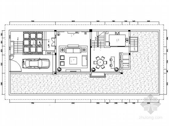 [江苏]淮安现代简约风格别墅住宅装修CAD施工图(含效果图)