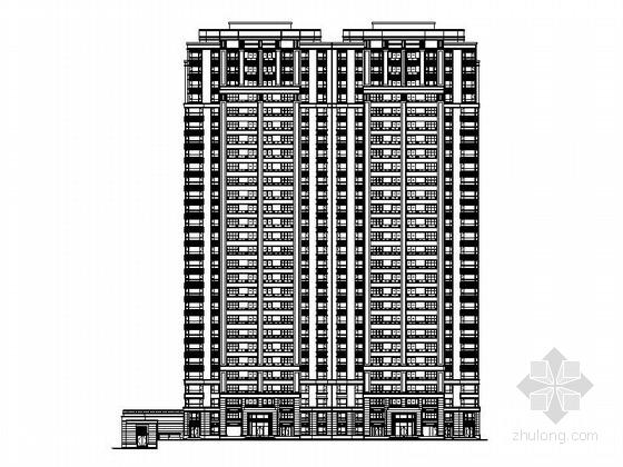 [江苏]高层对称式石材外墙塔式住宅建筑施工图
