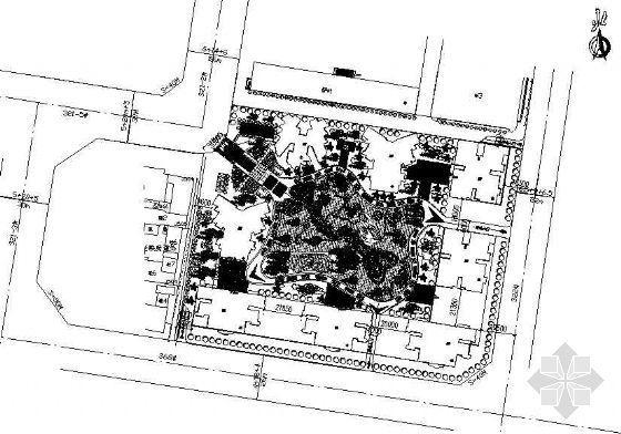 小区中心游园景观方案平面图