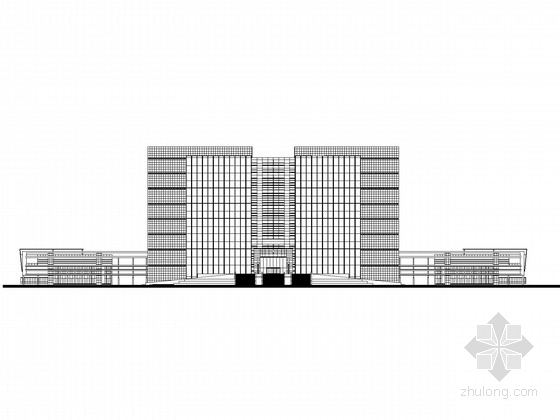 [海南]16层企业办公楼建筑施工图(上海知名公司设计)