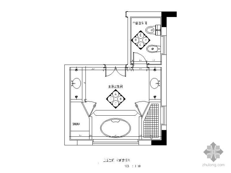 别墅主卧卫生间装修图