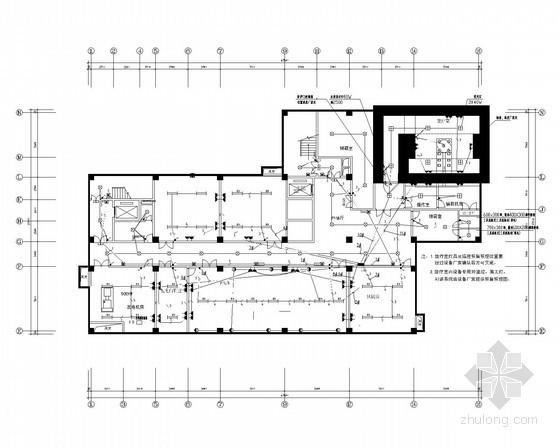 十一层门诊综合楼全套电气施工图纸91张(含审图意见与修改回复)