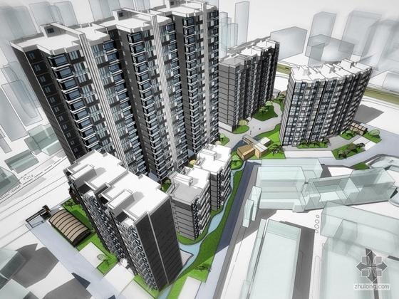 [四川省]某镇地块小区规划及建筑单体设计文本