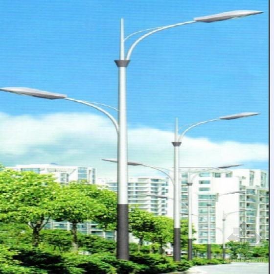 [安徽]城市主干道10.5米高双臂路灯设计图