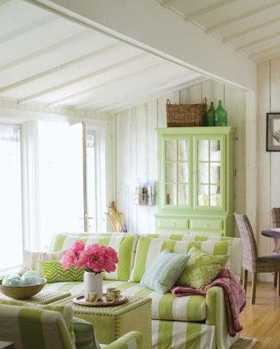 优雅清新的田园风格客厅设计
