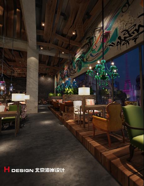 天津塘沽区咖啡厅设计案例_12