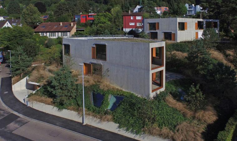UP住宅资料下载-瑞士双家庭公寓住宅