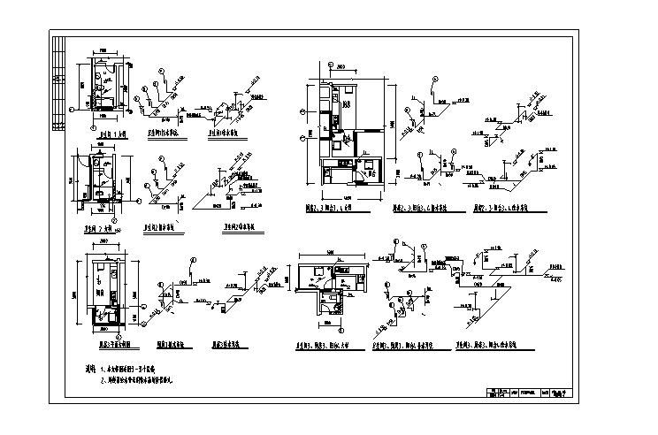 桂林御林湾住宅小区水电图纸