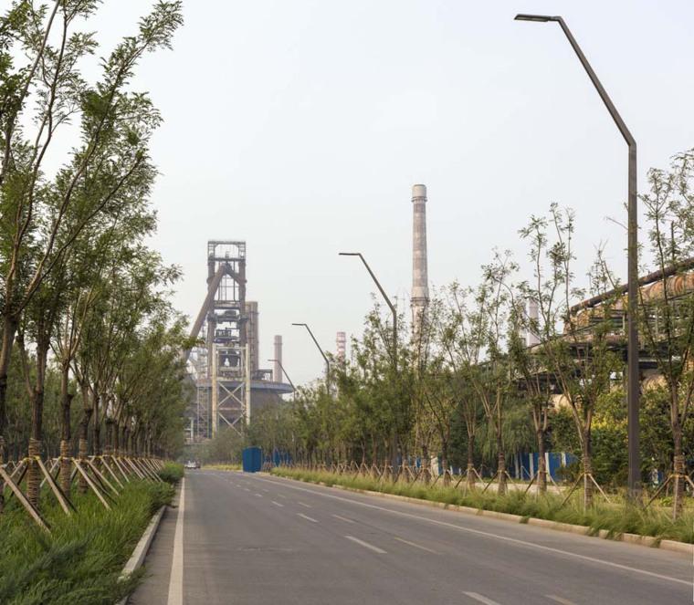 北京首钢晾水池东路景观-9