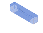 预制-带斜切割端点的矩形梁