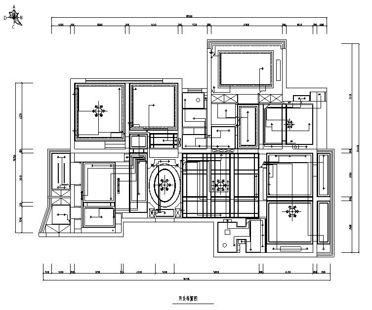 【辽宁】蓝白基调浪漫住宅空间设计施工图(附效果图)_3
