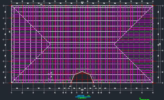 马术训练厅钢网架结构施工图_4