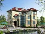 2层简洁大方,色彩明快半独栋别墅建筑设计