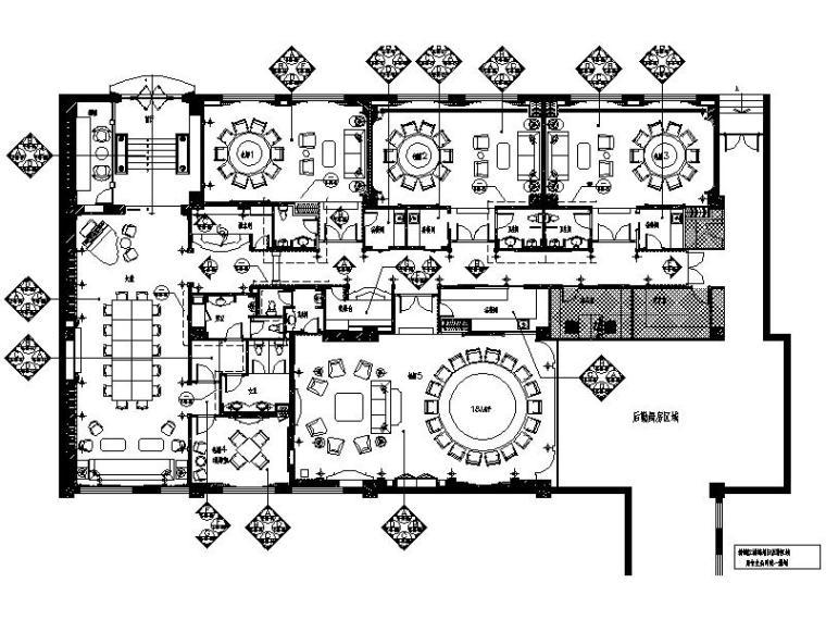 [上海]奢华优雅浪漫红酒会所室内设计施工图