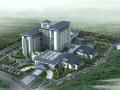 医院建筑景观规划设计案例鸟瞰效果图