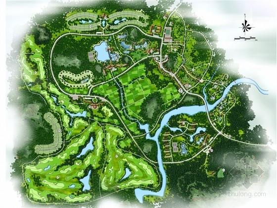 """[海南]""""环状交通功能组团""""温泉度假区规划设计方案(附CAD施工图及设计说明文档)"""
