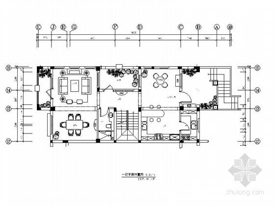 [青岛]法式田园风格别墅设计施工图(含高清效果图)