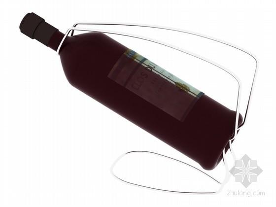 装饰酒瓶3D模型下载