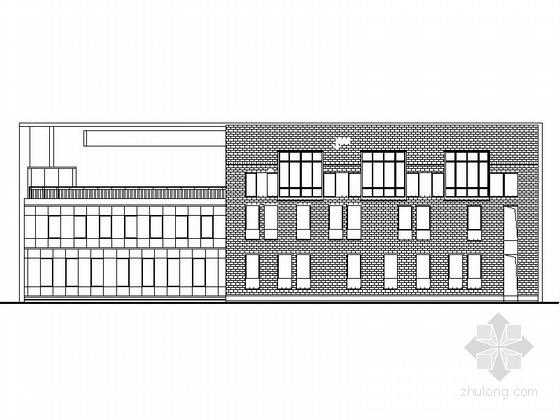 [浙江]3层现代风格中学教学楼建筑施工图