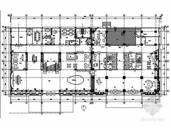 [江苏]高档现代风格酒店式公寓加售楼处室内装修施工图(含效果)