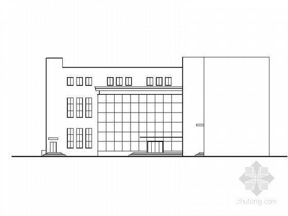 [云南]三层框架结构水电站控制楼建筑施工图