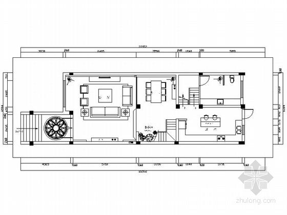 [扬州]精品现代风格三层联排别墅样板间CAD装修施工图(含效果)
