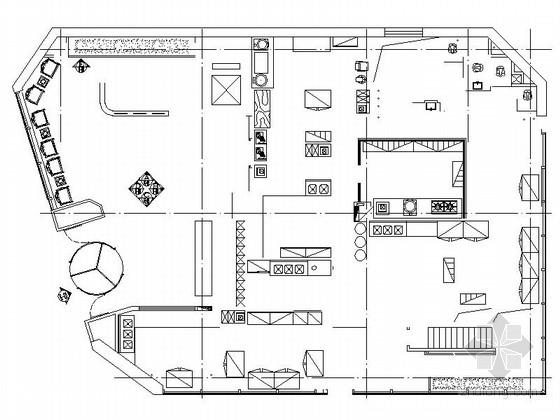 [北京]著名连锁新中式风格火锅店室内装饰施工图(含效果)