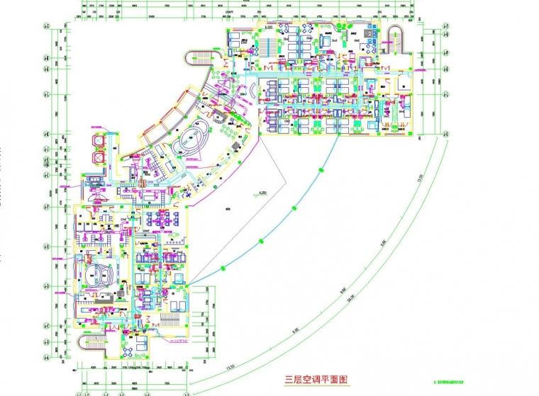 [天津]多层餐饮建筑空调通风及防排烟系统设计施工图(采暖设计)