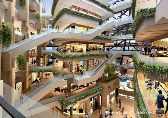 现代风格城市商业综合体设计方案效果图