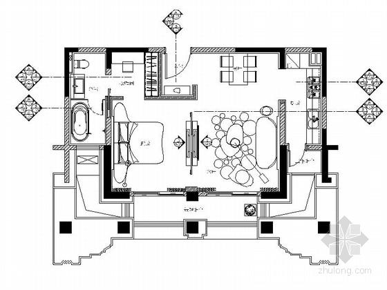 [无锡]现代风格60平米单身公寓室内装修图(含效果)
