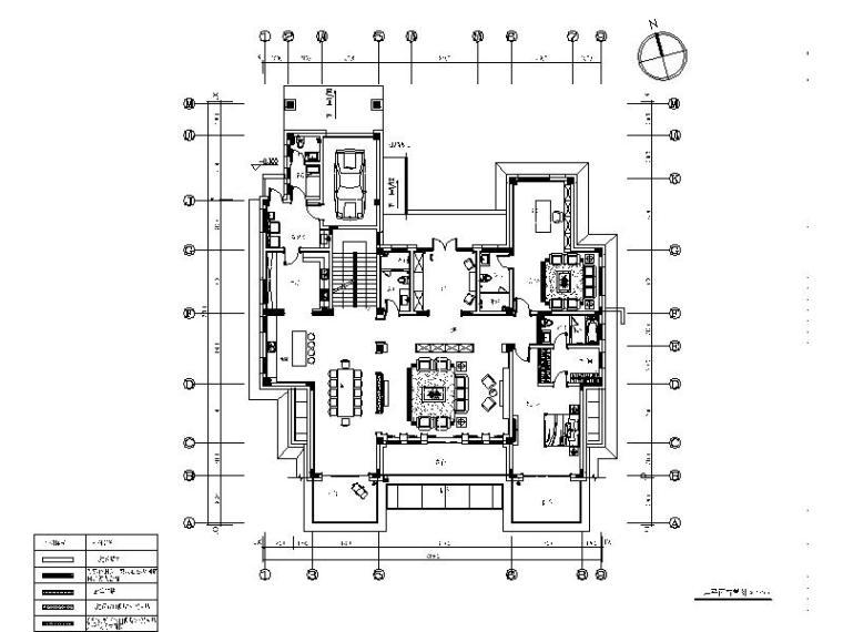[青岛]全套别墅设计室内装饰施工图_2