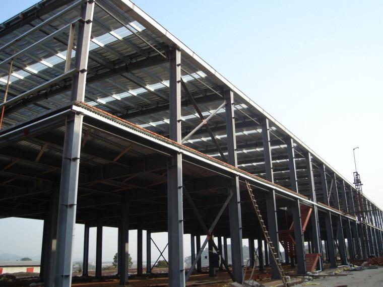轻钢结构厂房设计工程量计算实例(含图纸)