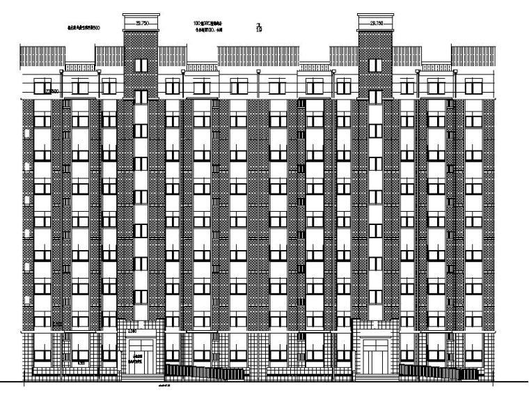 [宁夏]大型医院配套生活区住宅楼施工图(含全专业图纸)