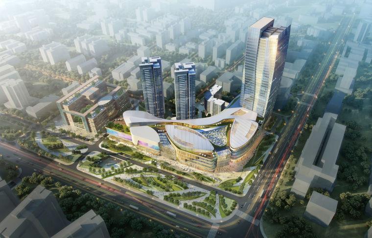 [广东]珠海大型商业购物中心建筑设计方案文本