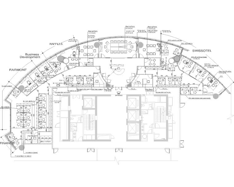 Raffles办公室室内装修设计施工图+概念设计