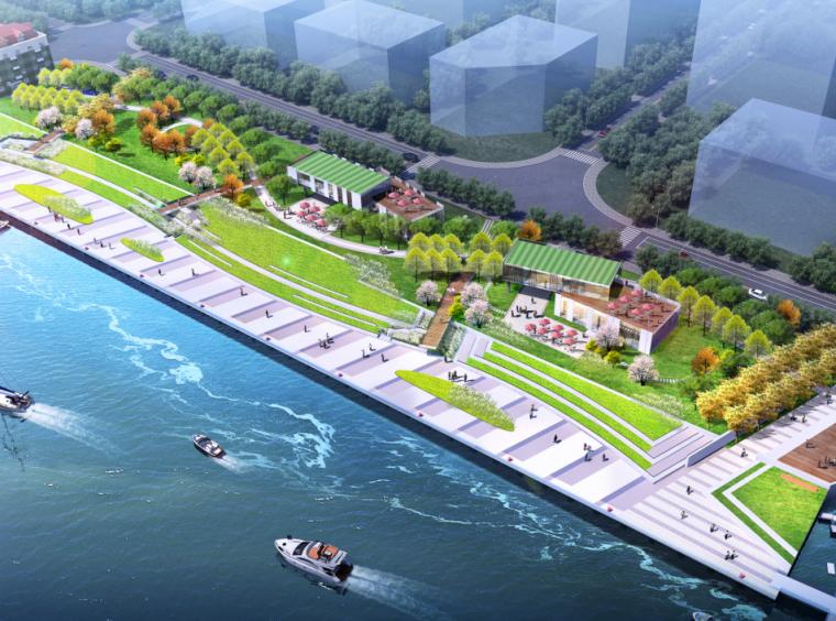 滨水公园—中栈地区地块公共绿地景观设计(PDF+63页)