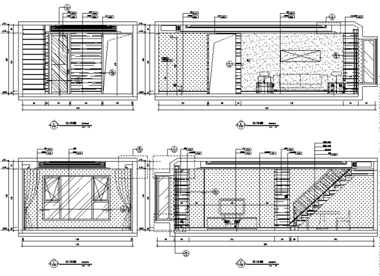 [北京]跃层户型精装样板间室内设计施工图(含效果图)_2