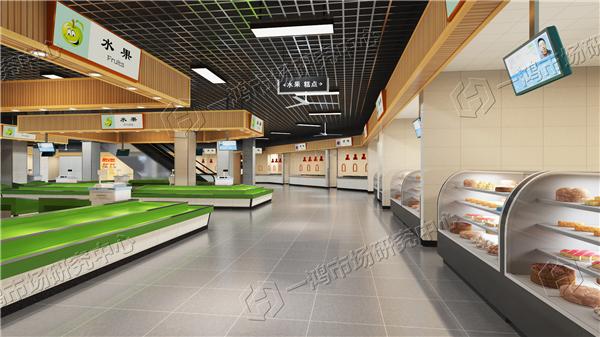 农贸室内设计风格追求多元化,现代风、新中式风、工业风...