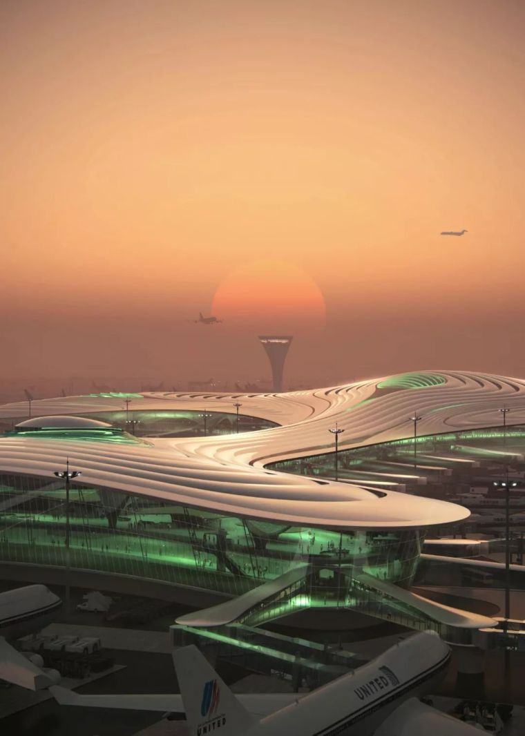 """MAD公布哈尔滨新机场设计—""""北国冰花"""""""