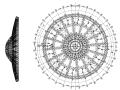 弦支穹顶结构体育馆屋盖钢结构施工图