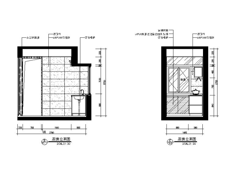 【广东】现代中式风格别墅设计CAD施工图(含效果图)_9