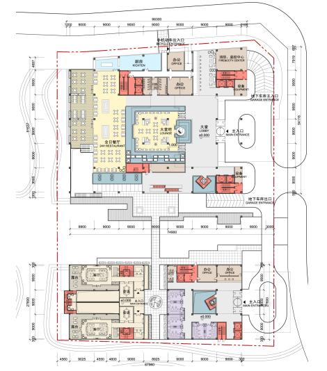[浙江]高层中式风格酒店娱乐综合体建筑方案文本_9