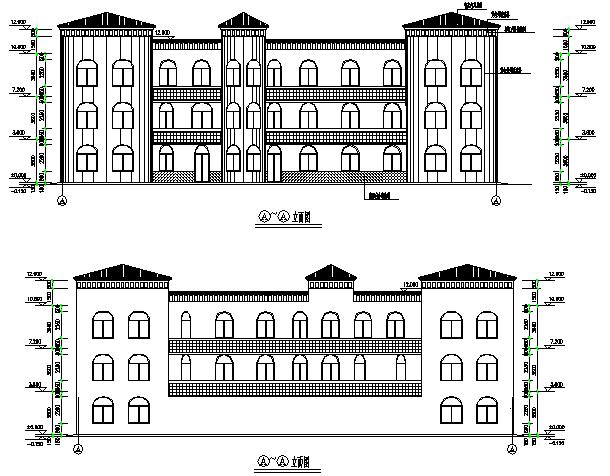 云海花园幼儿园砖混结构施工图