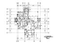二层钢混框架结构别墅建筑结构套图(CAD、17张)