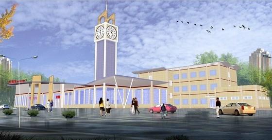 [合集]4套现代简洁风格汽车客运站建筑设计方案文本