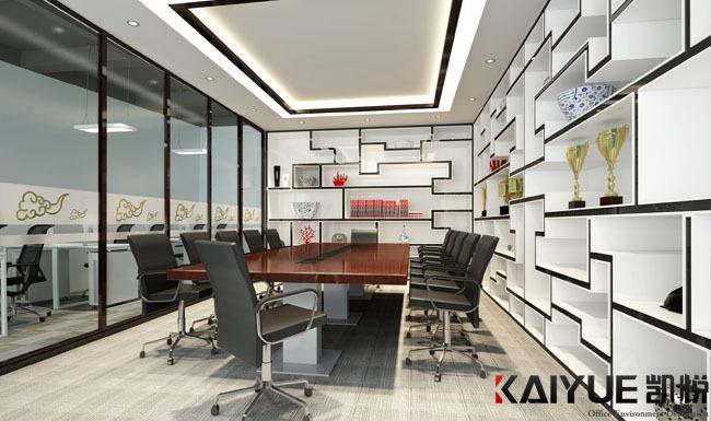 中式风格办公室装修设计-美时美刻生物科技_3