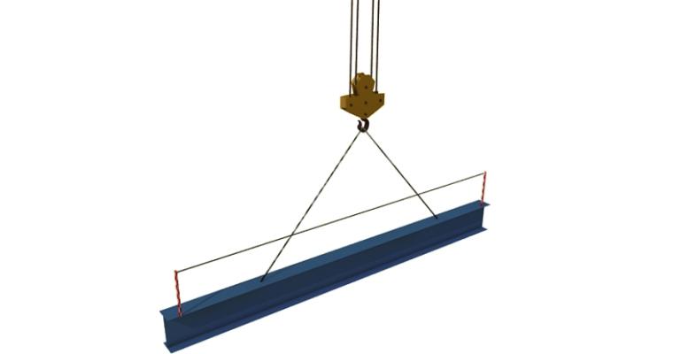 钢梁的吊运起吊示意图