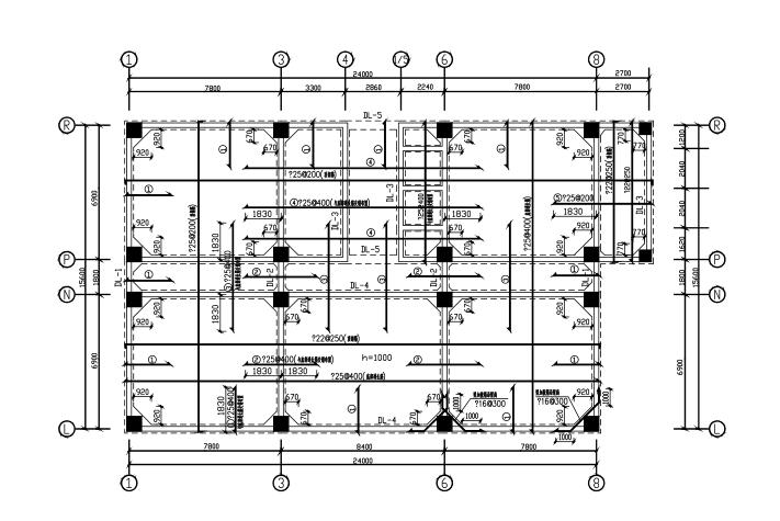 9层框剪结构宾馆结构施工图(CAD、37张)_1