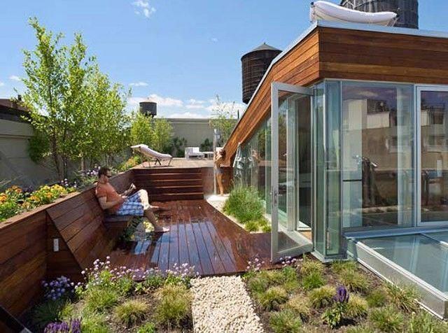 收藏!100款屋顶花园露台设计