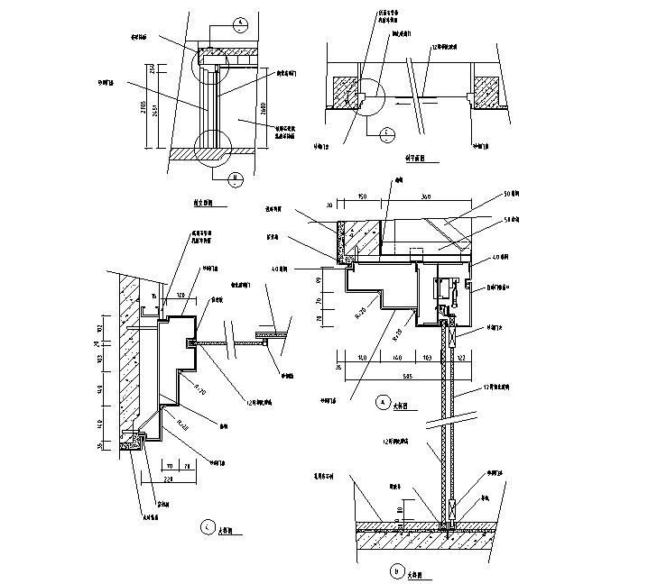 [超全]各种类型室内实木门CAD图集(结构详图+大样图)